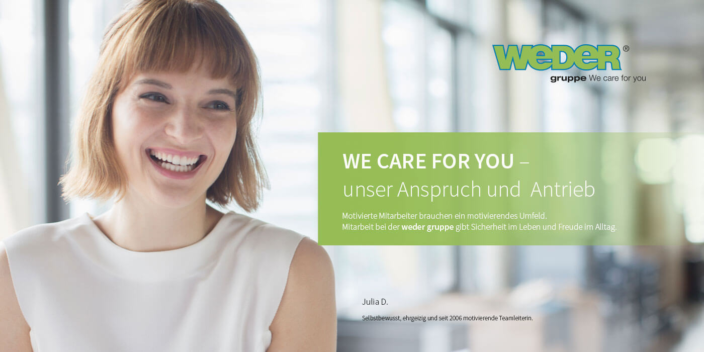 We car e for you – unser Anspruch und Antrieb
